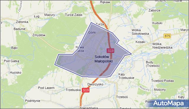 gmina Sokołów Małopolski - powiat rzeszowski na mapie Targeo