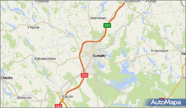gmina Suwałki - powiat Suwałki na mapie Targeo