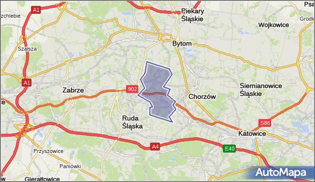 gmina Świętochłowice - powiat Świętochłowice na mapie Targeo