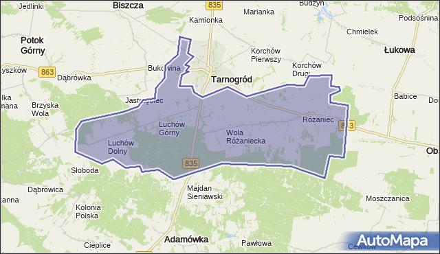 gmina Tarnogród - powiat biłgorajski na mapie Targeo