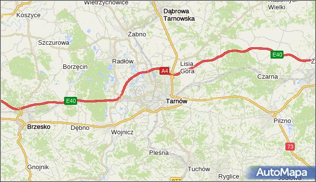 gmina Tarnów - powiat Tarnów na mapie Targeo