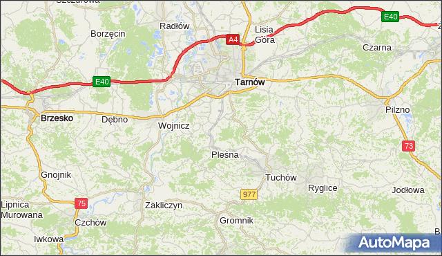 gmina Tarnów - powiat tarnowski na mapie Targeo