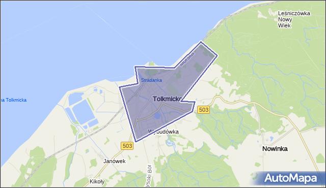 gmina Tolkmicko - powiat elbląski na mapie Targeo