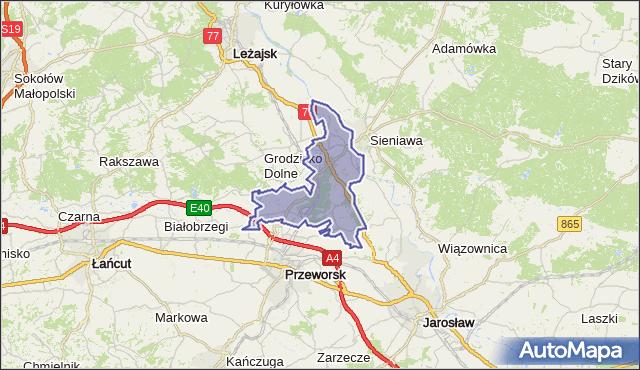 gmina Tryńcza - powiat przeworski na mapie Targeo