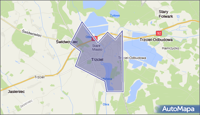 gmina Trzciel - powiat międzyrzecki na mapie Targeo