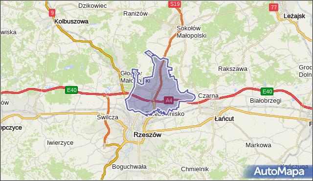 gmina Trzebownisko - powiat rzeszowski na mapie Targeo