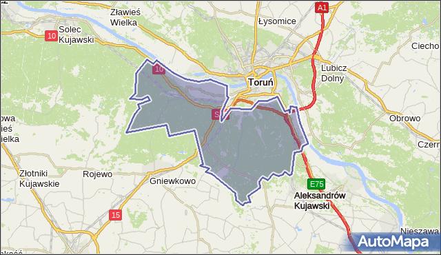 gmina Wielka Nieszawka - powiat toruński na mapie Targeo