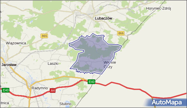 gmina Wielkie Oczy - powiat lubaczowski na mapie Targeo