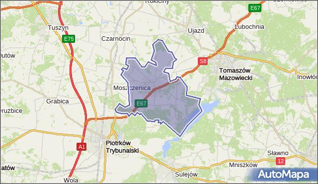 gmina Wolbórz - powiat piotrkowski na mapie Targeo