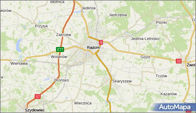 gmina Zakrzew - powiat radomski na mapie Targeo