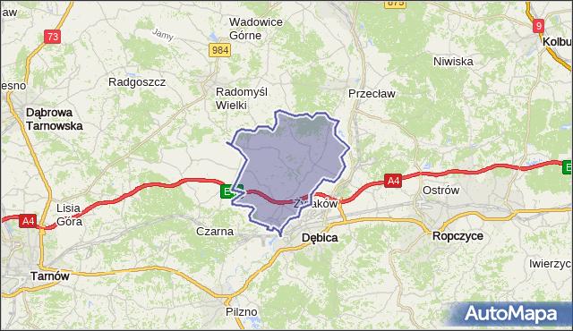 gmina Żyraków - powiat dębicki na mapie Targeo
