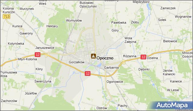 mapa Opoczno, Opoczno na mapie Targeo