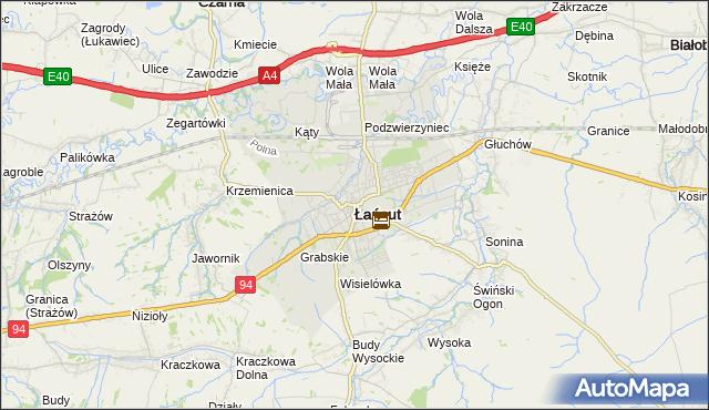mapa Łańcut, Łańcut na mapie Targeo