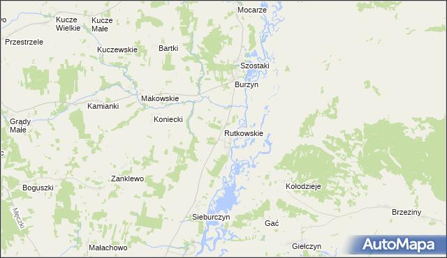 mapa Rutkowskie, Rutkowskie na mapie Targeo