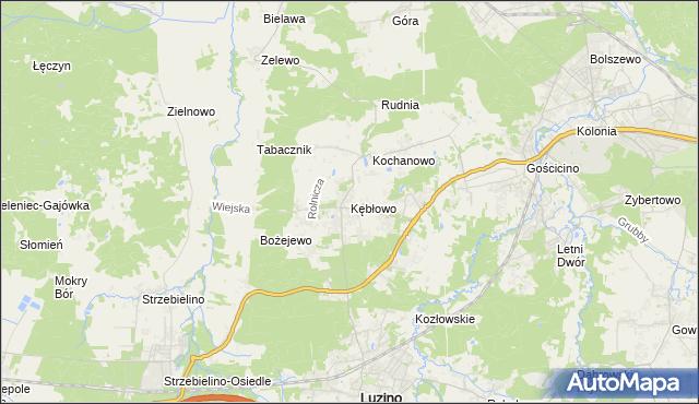 mapa Kębłowo gmina Luzino, Kębłowo gmina Luzino na mapie Targeo