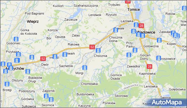 mapa Chocznia, Chocznia na mapie Targeo