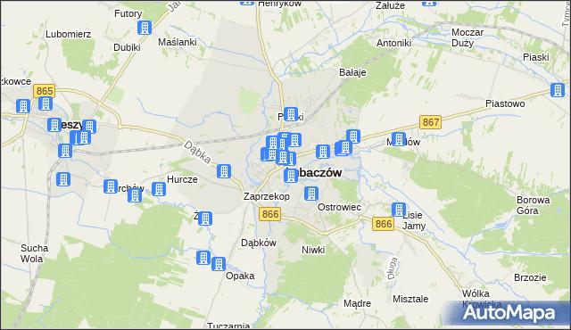 mapa Lubaczów, Lubaczów na mapie Targeo