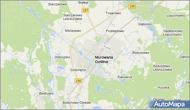 mapa Murowana Goślina, Murowana Goślina na mapie Targeo