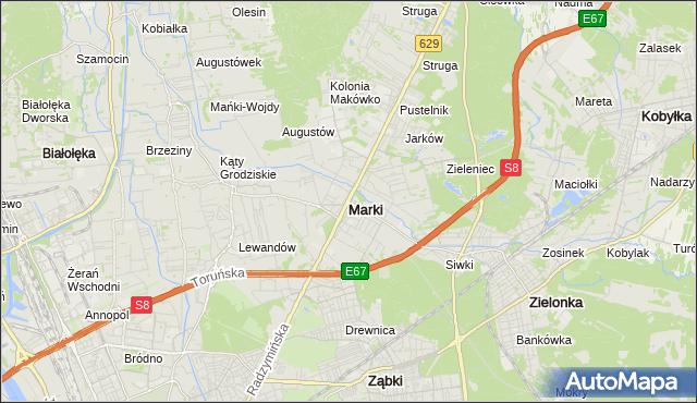 mapa Marki powiat wołomiński, Marki powiat wołomiński na mapie Targeo