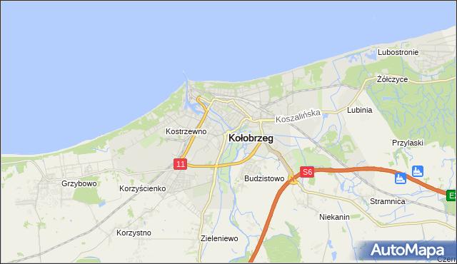 mapa Kołobrzegu, Kołobrzeg na mapie Targeo