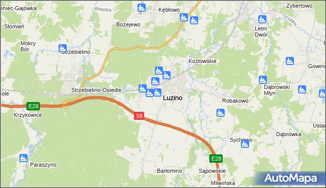 mapa Luzino, Luzino na mapie Targeo