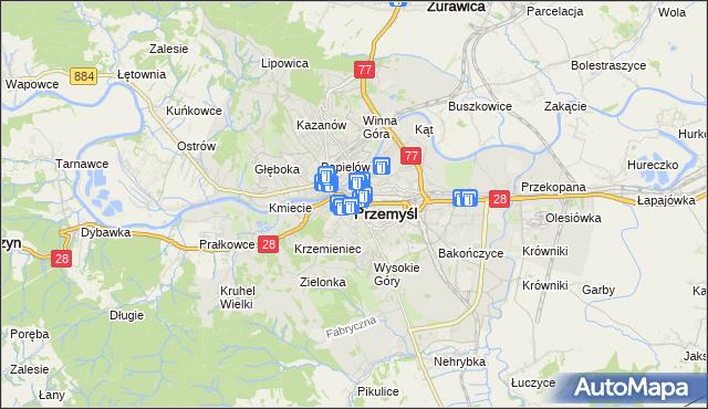 mapa Przemyśla, Przemyśl na mapie Targeo