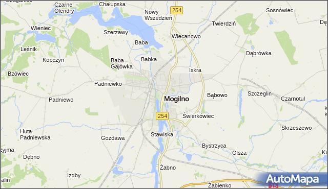 mapa Mogilno, Mogilno na mapie Targeo