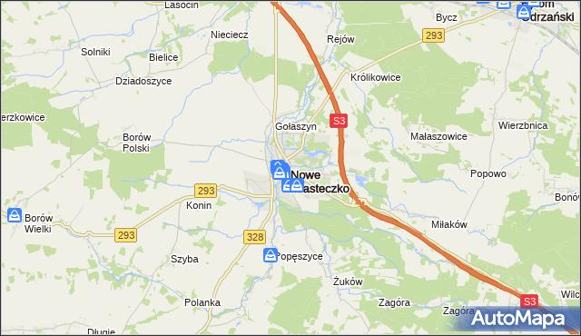 mapa Nowe Miasteczko, Nowe Miasteczko na mapie Targeo