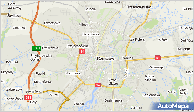 mapa Rzeszów, Rzeszów na mapie Targeo