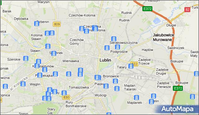 mapa Lublina, Lublin na mapie Targeo