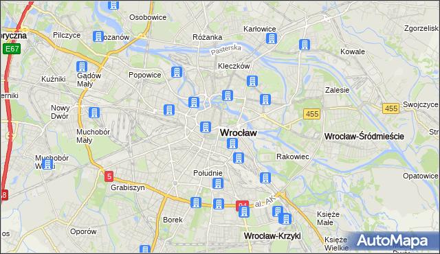 mapa Wrocławia, Wrocław na mapie Targeo