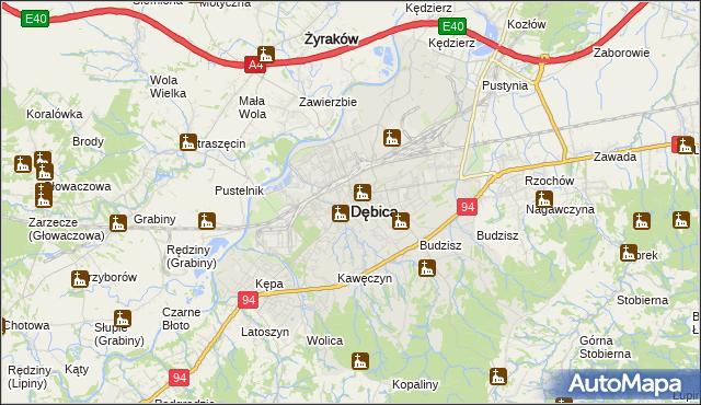 mapa Dębicy, Dębica na mapie Targeo