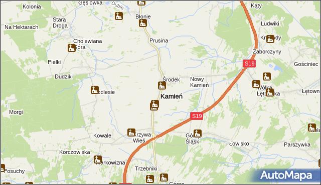 mapa Kamień powiat rzeszowski, Kamień powiat rzeszowski na mapie Targeo