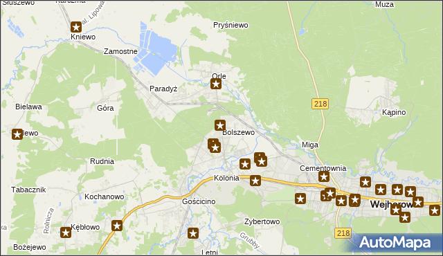 mapa Bolszewo, Bolszewo na mapie Targeo