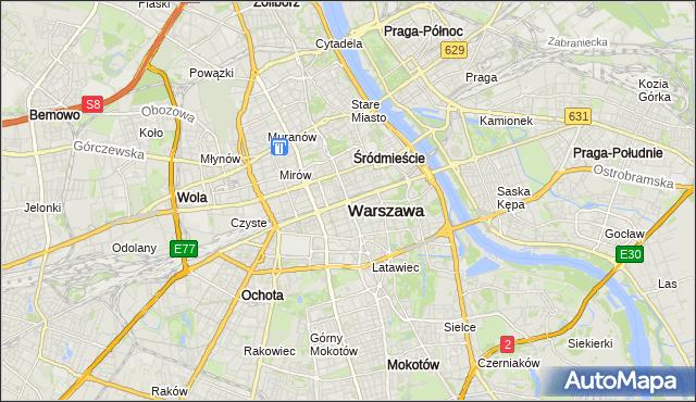 mapa Warszawy, Warszawa na mapie Targeo