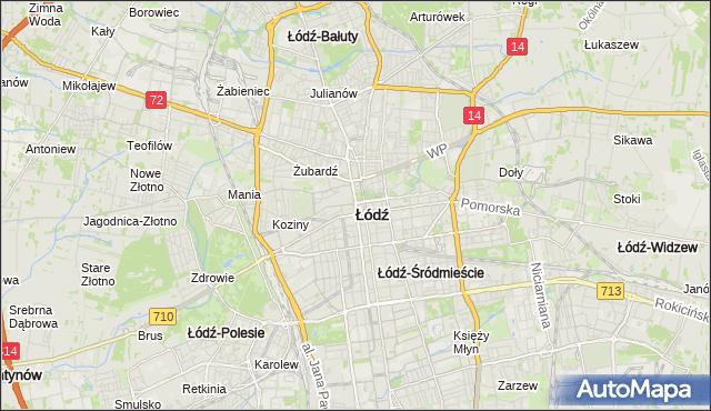 mapa Łodzi, Łódź na mapie Targeo