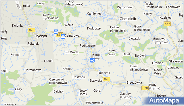 mapa Borek Stary, Borek Stary na mapie Targeo