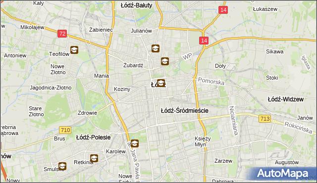mapa Śródmieście gmina Łódź, Śródmieście gmina Łódź na mapie Targeo