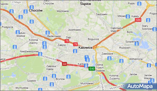 mapa Katowic, Katowice na mapie Targeo