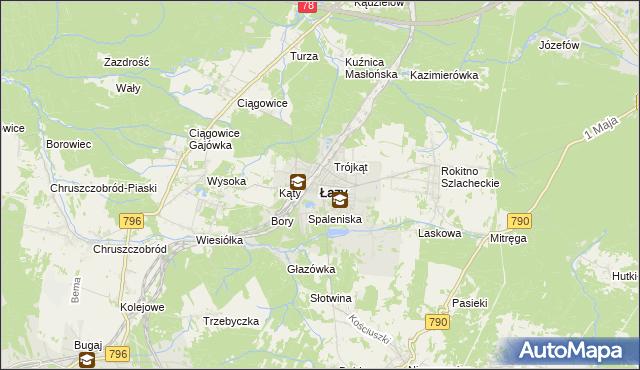 mapa Łazy powiat zawierciański, Łazy powiat zawierciański na mapie Targeo