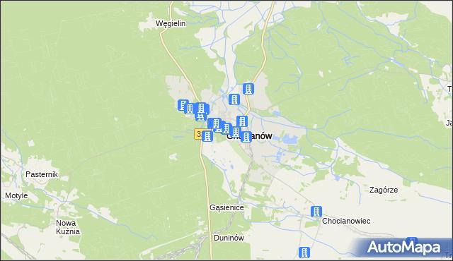 mapa Chocianów, Chocianów na mapie Targeo
