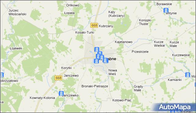 mapa Jedwabne, Jedwabne na mapie Targeo