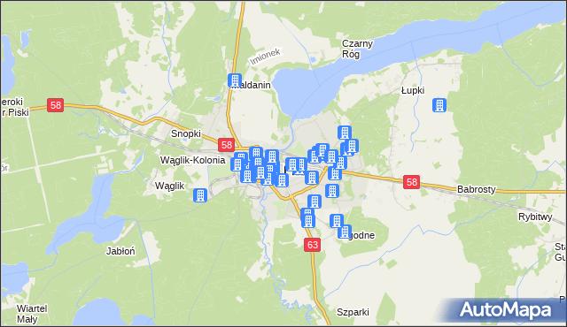 mapa Pisz, Pisz na mapie Targeo