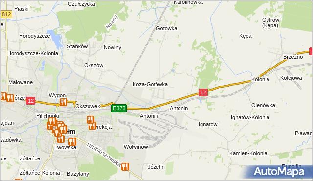 mapa Srebrzyszcze, Srebrzyszcze na mapie Targeo