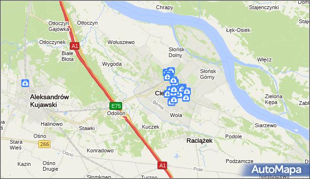 mapa Ciechocinek, Ciechocinek na mapie Targeo