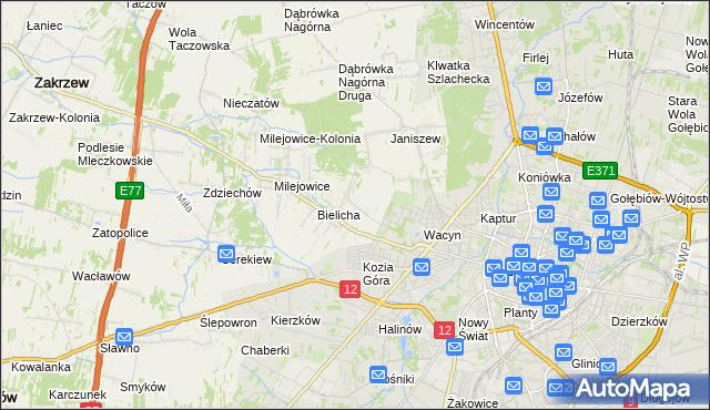 mapa Wacyn, Wacyn na mapie Targeo