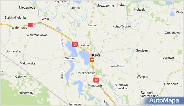mapa Kikół, Kikół na mapie Targeo