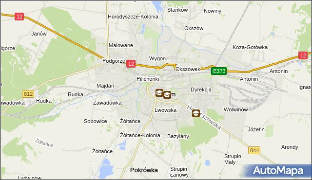mapa Chełma, Chełm na mapie Targeo