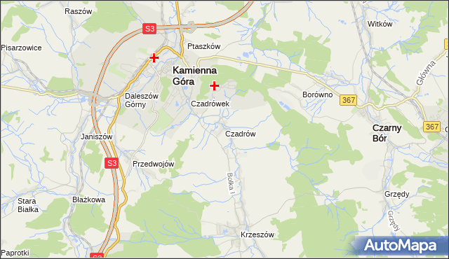 mapa Czadrów, Czadrów na mapie Targeo