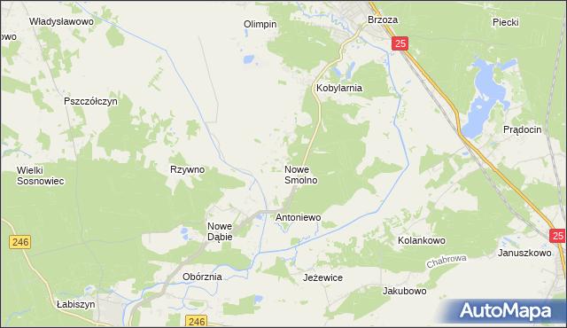 mapa Nowe Smolno, Nowe Smolno na mapie Targeo